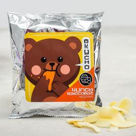 Кокосовые чипсы с мёдом «Мишка»: 40 г.