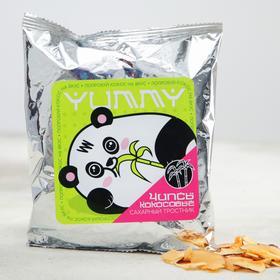 Кокосовые чипсы «Панда»: с сахарным тростником, 40 гр.