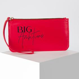 Кошелёк женский, 21.5х11.5х1.5 см, BIG Ambitions, красный