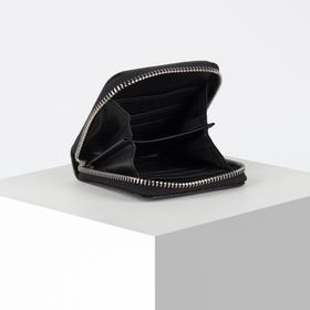 Кошелёк женский Don't look, 8.5х8.5 см, чёрный - фото 56634