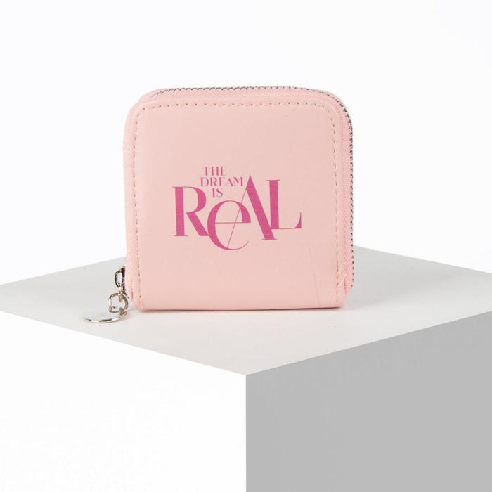 Кошелёк женский Real, 8.5х8.5 см, розовый - фото 56635