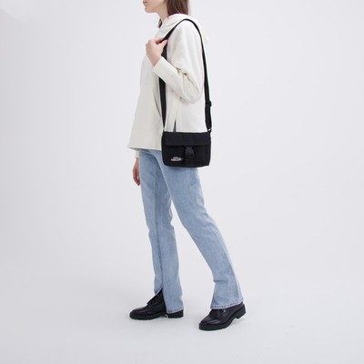 "Bag on a strap with a ""Nothing PERSONAL"" clasp"""