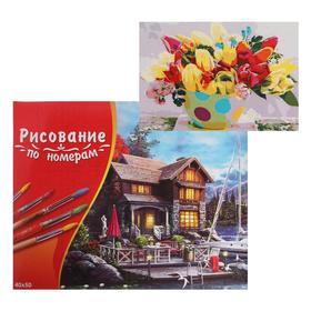 Картина по номерам 40×50 см в коробке «Букет тюльпанов»