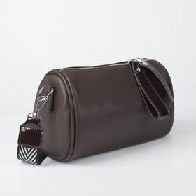 Сумка женская, отдел на молнии, наружный карман, 2 ремня, коричневый