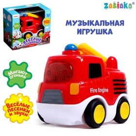 Музыкальная игрушка «Пожарная машина», звук, свет, цвет красный