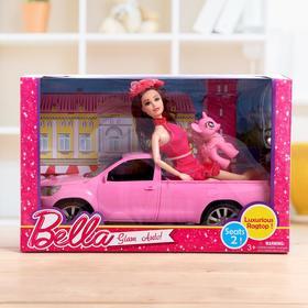 Машина для кукол, с куклой, с аксессуарами, МИКС