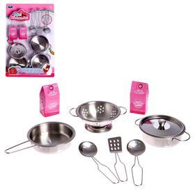 Набор металлической посуды «Мини кухня»
