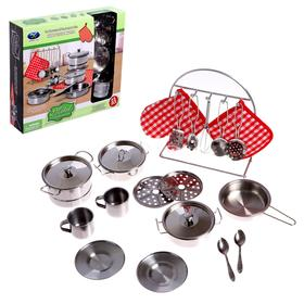 """Set of metal dishes """"Holiday lunch"""""""