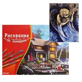 Картина по номерам 30×40 см в коробке «Ангел со скрипкой»