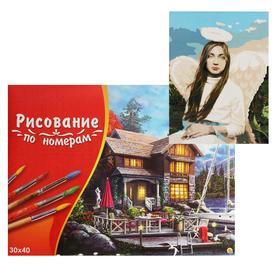 Картина по номерам 30×40 см в коробке «Кроткий ангел»