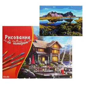 Картина по номерам 30×40 см в коробке «Мыс стокснес в Исландии»