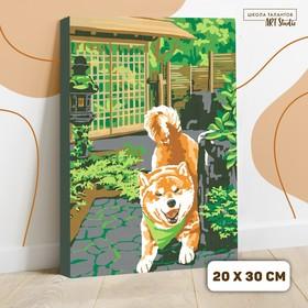 Картина по номерам на холсте с подрамником «Сиба-ину», 30х20 см