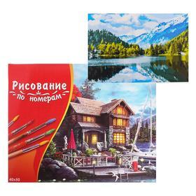 Картина по номерам 40×50 см в коробке, 20 цветов «Фантастический вид на озеро»