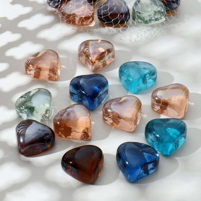 декор камни перламутр 250 гр сердца - фото 699549
