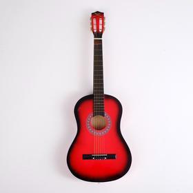 Гитара классическая красная, 6-ти струнная 97см