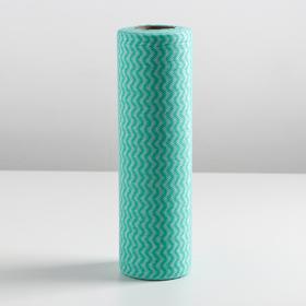 Рулон салфеток перфорированных 23×30 см, вискоза, 30 шт, цвет МИКС