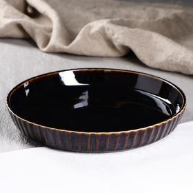 """Форма для выпечки """"Круг"""", черная, 26 см, керамика"""