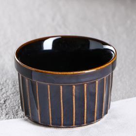 "Форма для выпечки ""Рамекин"", черная, керамика, 0.2 л"