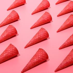 Waffle cones with a straight edge red (n-110, d-48), 225 pcs