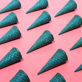 Wafer cones with a straight edge blue (N-110, D-48), 225 pcs