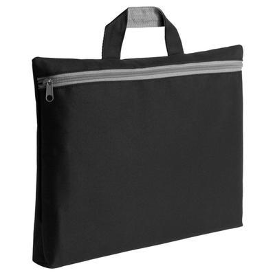 Simple black folder bag