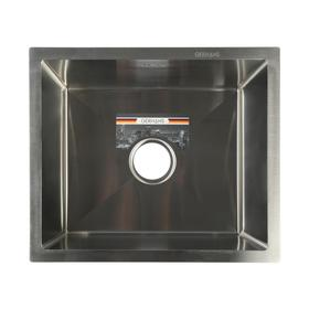 Мойка кухонная GERHANS K35043, врезная, 500х430х220 мм, с сифоном, глянцевая