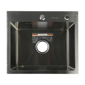 Мойка кухонная GERHANS K35044, врезная, 500х440х220 мм, с сифоном, глянцевая