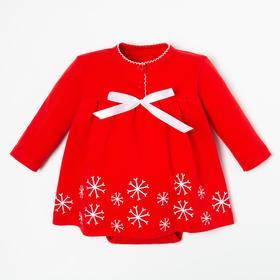 """Боди-платье Крошка Я """"Winter party"""", рост 68-74 см, красный"""