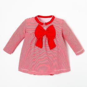 """Боди-платье Крошка Я """"Полоска"""", рост 80-86 см, красный"""