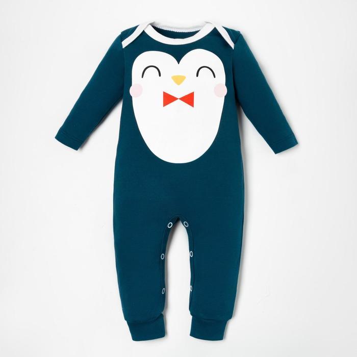 "Комбинезон Крошка Я ""Пингвин"", рост 74-80 см, синий - фото 76742406"