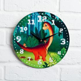 """Часы дерево настенные """"Дино"""", d=29 см"""
