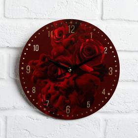 """Часы дерево настенные """"Розы"""", d=29 см"""