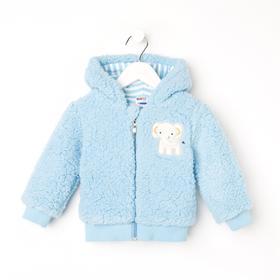 Куртка для девочки, цвет голубой, рост 68 см