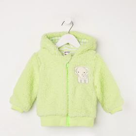 Куртка для девочки, цвет салатовый, рост 68 см