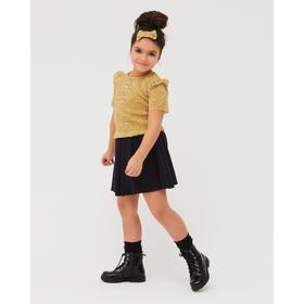 Футболка для девочки, цвет золотистый, рост 98 см