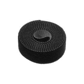 Лента-липучка для стяжки проводов, 1 шт, 100*1,5 см, черная