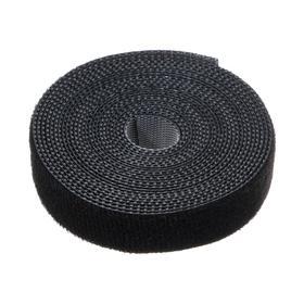 Лента-липучка для стяжки проводов, 1 шт, 300*1,5 см, черная