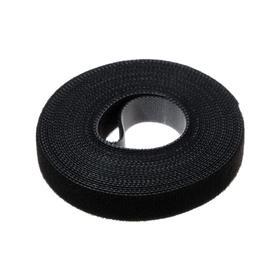 Лента-липучка для стяжки проводов, 1 шт, 500*1,5 см, черная Ош