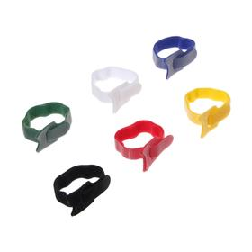 Лента-липучка для стяжки проводов, набор 12 шт, 15*1,2 см, МИКС Ош