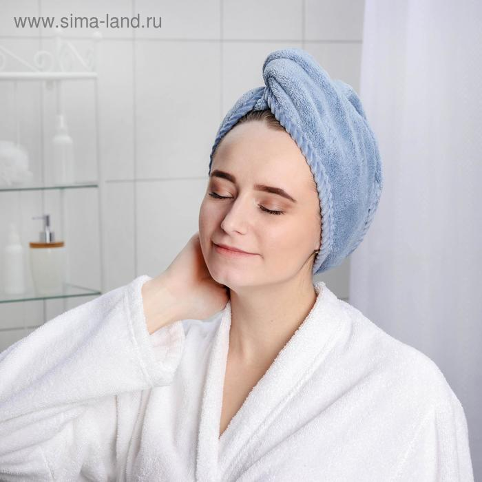 The turban for the sauna/shower with a button microfiber, MIX color