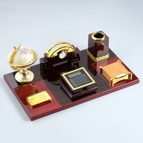 A set of Board 7in1(block d/boom,making a stand.d / print, pencil holder, tracing paper, globe, business card with clock) 51139