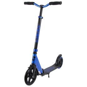 Самокат для детей NOVATRACK POLIS PRO, колеса PU 200*180мм, синий