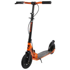 Самокат детский NOVATRACK POLIS, колёса надувные 200 × 200 мм, цвет оранжевый