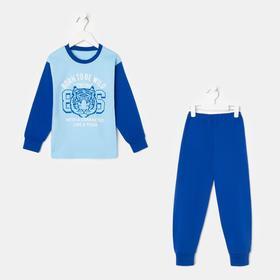 Пижама для мальчика, цвет синий, рост 86-92 см