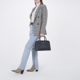 Сумка женская, отдел на молнии, наружный карман, длинный ремень, цвет синий - фото 51920