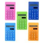 Калькулятор карманный 08-разрядный двойное питание корпус МИКС