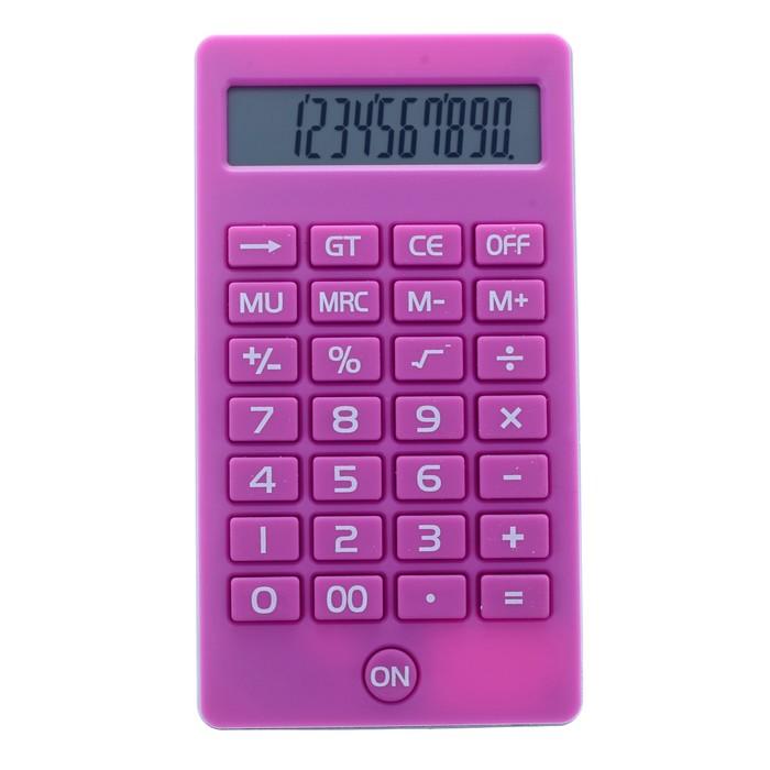 Калькулятор карманный, 12-разрядный, KK-108, МИКС - фото 797596457