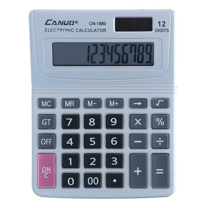 Калькулятор настольный, 12-разрядный, CN-1880, двойное питание - фото 504888685