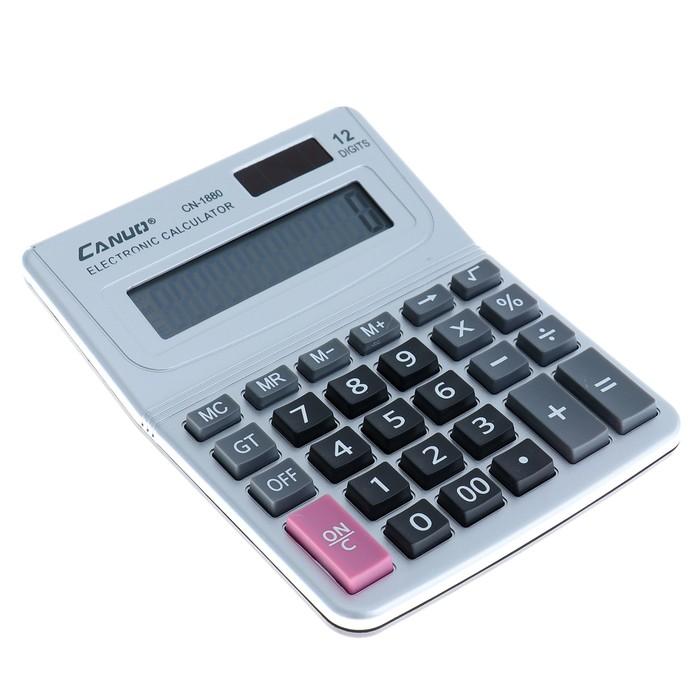 Калькулятор настольный, 12-разрядный, CN-1880, двойное питание - фото 504888686