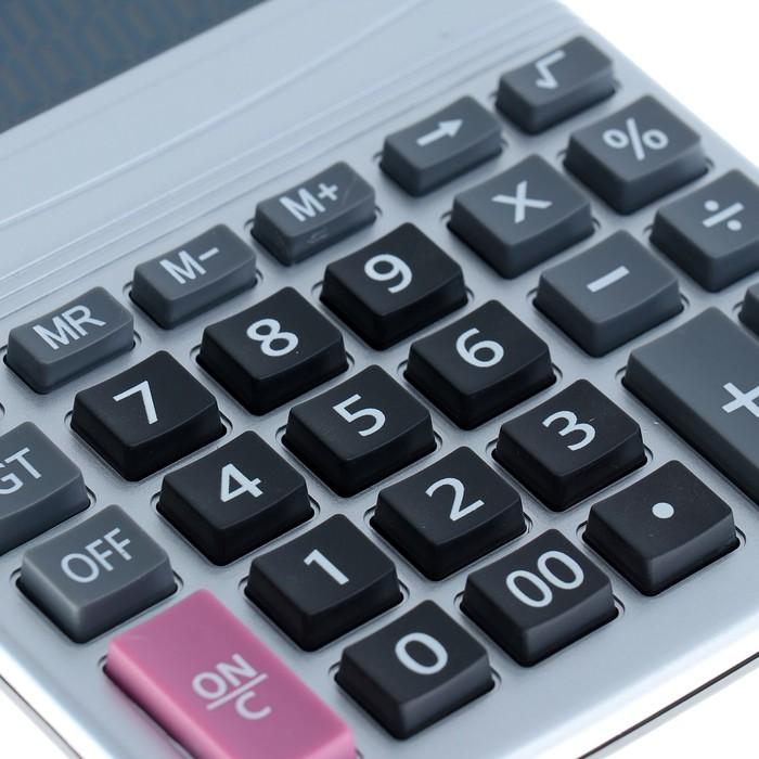 Калькулятор настольный, 12-разрядный, CN-1880, двойное питание - фото 504888687